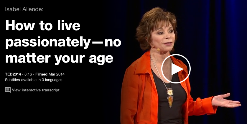 Isabel Allende How To Live Passionately